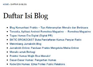 sitemap blog wp