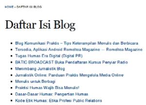 Daftar Isi Blog WP.com